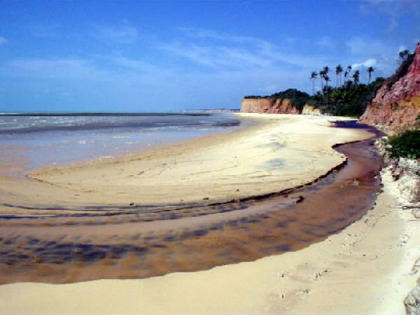 Praia da Areia Preta Cumuruxatiba Bahia - Pousadas Praias Restaurantes
